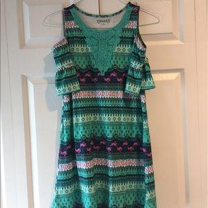 Open Shoulder Youth Girls Dress